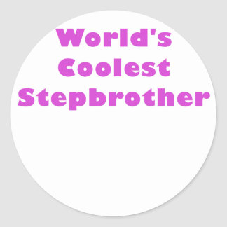 Worlds Coolest Stepbrother Classic Round Sticker