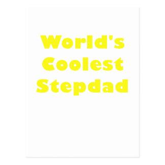Worlds Coolest Stepdad Postcard
