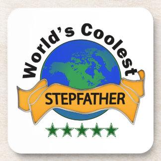 World's Coolest Stepfather Beverage Coaster