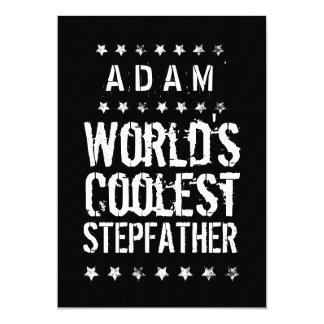 World's Coolest STEPFATHER Black White Stars J01Z Card