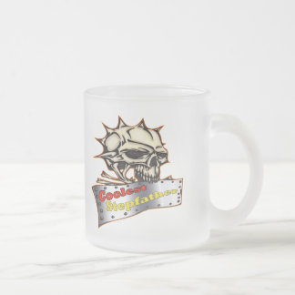 World's Coolest Stepfather Father's Day Gift Frosted Glass Coffee Mug