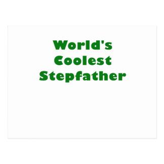 Worlds Coolest Stepfather Postcard