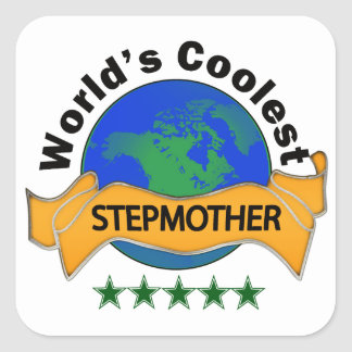 World's Coolest Stepmother Square Sticker