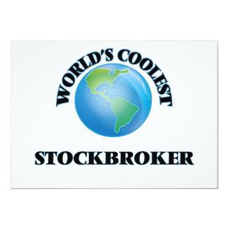 World's coolest Stockbroker 5x7 Paper Invitation Card