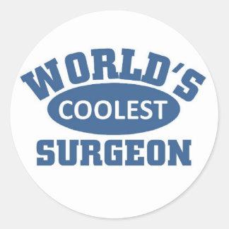 World's coolest Surgeon Classic Round Sticker