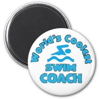 World's Coolest Swim Coach - Fridge Magnet