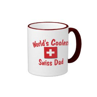 World's Coolest Swiss Dad Ringer Coffee Mug