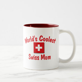 World's Coolest Swiss Mom Two-Tone Coffee Mug
