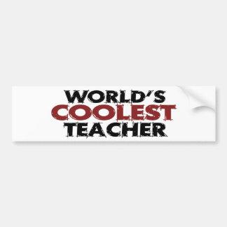 Worlds Coolest Teacher Car Bumper Sticker