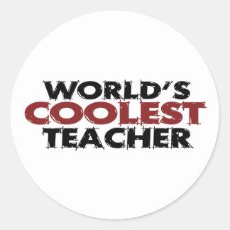 Worlds Coolest Teacher Classic Round Sticker
