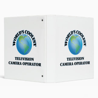 World's coolest Television Camera Operator 3 Ring Binders