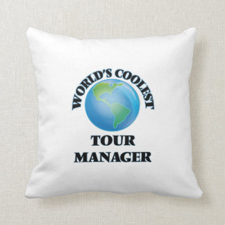 World's coolest Tour Manager Throw Pillows