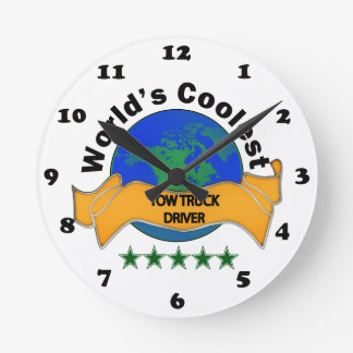 World's Coolest Tow Truck Driver Round Clock