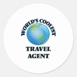 World's coolest Travel Agent Round Sticker
