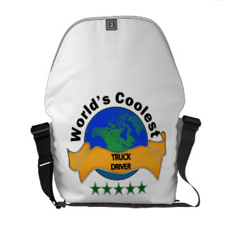World's Coolest Truck Driver Messenger Bag