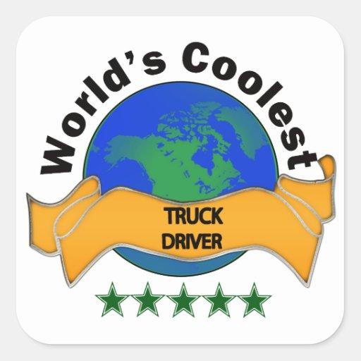 World's Coolest Truck Driver Square Sticker