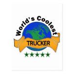 World's Coolest Trucker Postcard