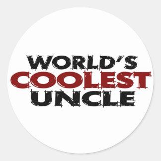 Worlds Coolest Uncle Classic Round Sticker