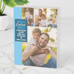 World's Coolest Uncle   Modern Photo Collage Wooden Box Sign