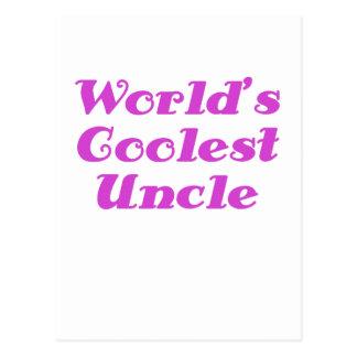 Worlds Coolest Uncle Postcard