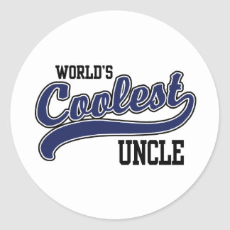 World's Coolest Uncle Round Stickers