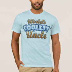 Men's Basic American Apparel T-Shirt with World's Coolest Uncle design