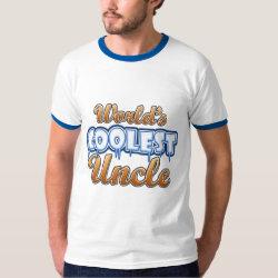 Men's Basic Ringer T-Shirt with World's Coolest Uncle design