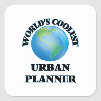 World's coolest Urban Planner Square Stickers