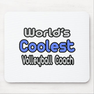 World's Coolest Volleyball Coach Mouse Pad