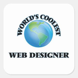 World's coolest Web Designer Square Sticker