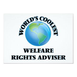 World's coolest Welfare Rights Adviser Custom Announcement Card