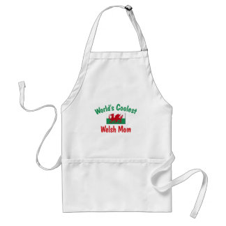 World's Coolest Welsh Mom Adult Apron