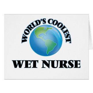 World's coolest Wet Nurse Greeting Card