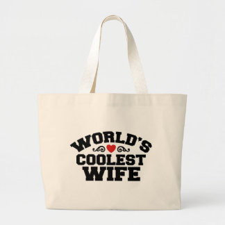 World's Coolest Wife Canvas Bags