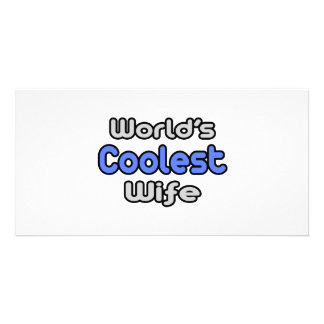 World's Coolest Wife Personalized Photo Card