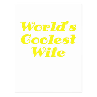 Worlds Coolest Wife Postcard
