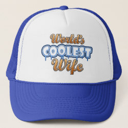 Trucker Hat with World's Coolest Wife design