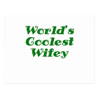 Worlds Coolest Wifey Postcard