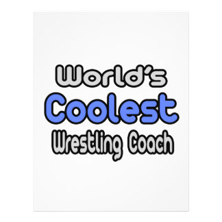 "World's Coolest Wrestling Coach 8.5"" X 11"" Flyer"