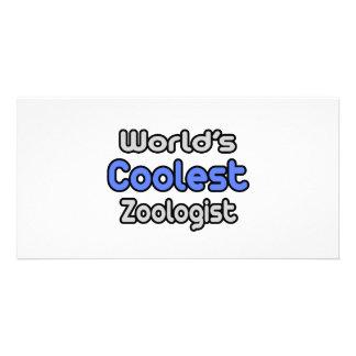 World's Coolest Zoologist Custom Photo Card
