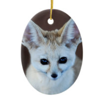 Worlds Cutest Fennec Fox Ceramic Ornament