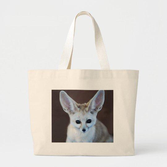 Worlds Cutest Fennec Fox Large Tote Bag