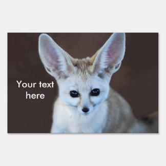 Worlds Cutest Fennec Fox Sign