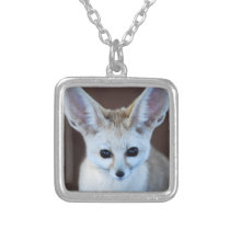Worlds Cutest Fennec Fox Silver Plated Necklace