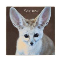 Worlds Cutest Fennec Fox Wooden Coaster