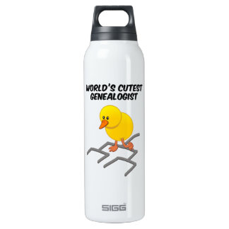 World's Cutest Genealogist 16 Oz Insulated SIGG Thermos Water Bottle