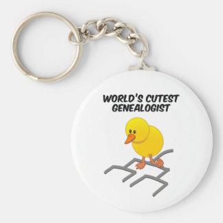 World's Cutest Genealogist Basic Round Button Keychain