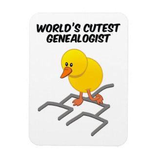 World's Cutest Genealogist Rectangular Photo Magnet