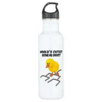 World's Cutest Genealogist Water Bottle