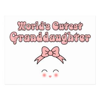 World's Cutest Granddaughter Postcard